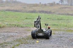 Wystawa INTERPOLITEX 2016 Robot dla zniszczenia amunicje Zdjęcia Royalty Free