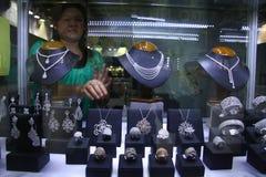 Wystawa jewellery Obraz Royalty Free