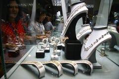 Wystawa jewellery Zdjęcia Royalty Free