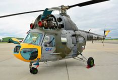 Wystawa Mil Mi-2 helikopter Zdjęcie Royalty Free
