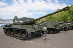 Wystawa militarni retro pojazdy Zdjęcie Stock