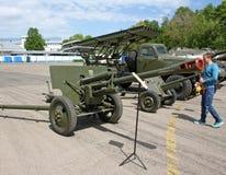 Wystawa militarni retro pojazdy Obraz Stock