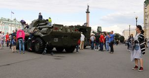 Wystawa militarny wyposażenie w rynku zdjęcie wideo