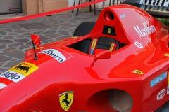 Wystawa pojazdy od Ferrari muzeum na ulicach Spilamb Obrazy Stock