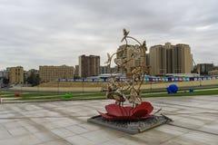 Wystawa postacie w parku Heydar Aliyev centrum Zdjęcie Stock
