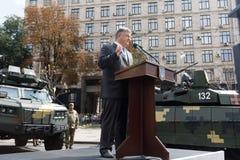 Wystawa ręki i militarny wyposażenie na Khreshchatyk, w Ki Obrazy Royalty Free