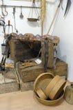 Wystawa starzy narzędzia robić koszowi Obrazy Stock