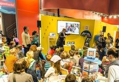 Wystawa stojak przy Frankfurt targi książki 2014 zdjęcia stock