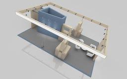 Wystawa stojak w błękicie i beżu barwi 3d rendering zdjęcie stock