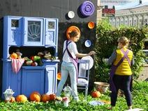 Wystawa z jesieni warzywami Obraz Royalty Free