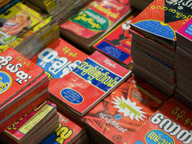 WYSTAWIAĆ książki DLA sprzedaży PRZY BOOKSTORE zdjęcia stock