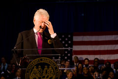 wystawia rachunek Clinton fiskusa daje mowy uniwersyteta Zdjęcia Royalty Free
