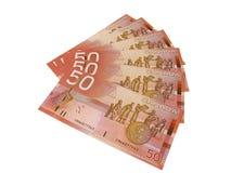 wystawia rachunek dolar kanadyjski pięćdziesiąt Zdjęcia Stock