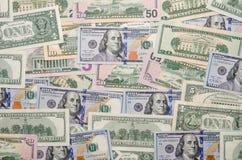 wystawia rachunek dolara kilka zdjęcia stock