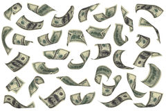 wystawia rachunek dolara spadać sto Zdjęcie Stock