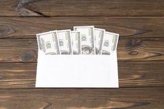 wystawia rachunek dolarową kopertę Obraz Stock