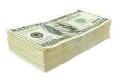 wystawia rachunek dolarowego pieniądze papierową stertę Obraz Stock