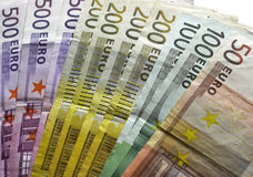 wystawia rachunek euro Zdjęcie Stock
