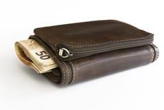 wystawia rachunek euro portfel Zdjęcia Stock