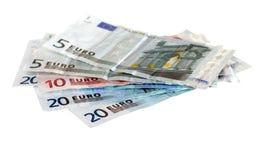 wystawia rachunek euro różnorodnego Fotografia Stock