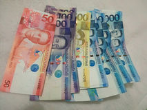 wystawia rachunek peso Philippine Obraz Stock