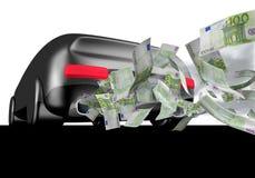 wystawia rachunek samochodowego euro Fotografia Stock