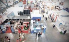 Wystawy handlowa tło z intencjonalnym plama skutkiem stosować Obraz Stock