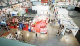 Wystawy handlowa tło z intencjonalnym plama skutkiem stosować Fotografia Stock