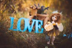 Wystrój dla historii miłosnej Lala na trawie zdjęcie royalty free