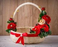 Wystrój dla świętować wielkanoc tła koszykowy Easter astronautyczny tekst Zdjęcie Royalty Free
