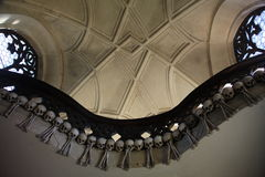 Wystrój ludzkie czaszki i kości w ossuary gotyk Cmentarniany kościół Wszystkie święty w kutna-Hora, republika czech Obraz Stock