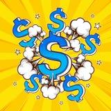 Wystrzał sztuki pieniądze ilustracja wektor