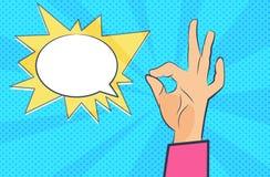 Wystrzał sztuki ręka bąbla graficznej osoby mowy target14_0_ wektor ilustracji