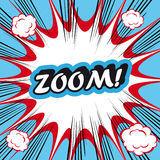 Wystrzał sztuki wybuchu tła zoom! Fotografia Stock