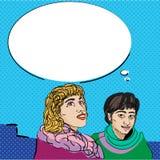 Wystrzału komiczek dialog Obraz Royalty Free
