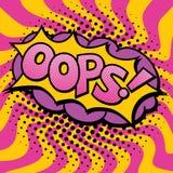 Wystrzał sztuki teksta projekt OOPS Obraz Royalty Free