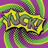 Wystrzał sztuki YUCK teksta projekt Obrazy Stock