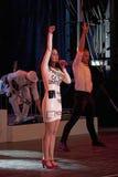 Wystrzału piosenkarz Katy Perry jest ubranym a  Zdjęcie Stock