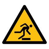 Wystrzega się przeszkody Wektorowa ilustracja EPS, symbolu znak Odizolowywa Na Białym tle 10 royalty ilustracja