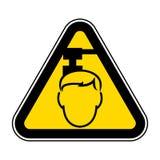 Wystrzega się Zasięrzutnego zagrożenie symbol Odizolowywa Na Białym tle, Wektorowa ilustracja EPS 10 ilustracja wektor