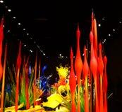 Wystrzelony szkło w abstrakcjonistycznych kształtach Obraz Royalty Free