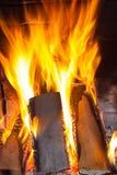 Wystrzykania płomień Pożarniczy blask Obrazy Royalty Free