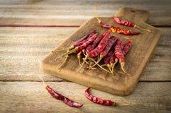 Wysuszeni chili pieprze Zdjęcie Stock