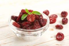 Wysuszeni cranberries Fotografia Stock