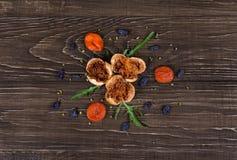Wysuszeni Karmowych składników warzywa na tabela Fotografia Royalty Free