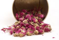 Wysuszeni pączki róże, mieć dobrego sen od banków Obrazy Stock