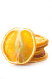 Wysuszeni pomarańcze plasterki odizolowywający Obraz Stock