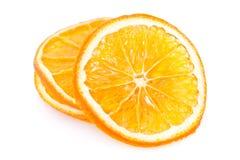 wysuszeni pomarańczowi plasterki Zdjęcia Royalty Free