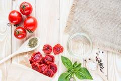 Wysuszeni pomidory Zdjęcie Stock