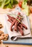 Wysuszeni wieprzowiny mięsa kije Obraz Royalty Free